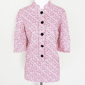 Lilly Pulitzer Pink Pear Popover Blouse
